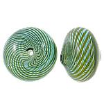 Beads lulëzim Lampwork, Round Flat, fryj, asnjë, asnjë, 16.5x12mm, : 1-1.5mm, 50PC/Qese,  Qese