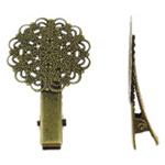 Clips Sqepi, Alloy zink, Lule, Ngjyra antike bronz i praruar, asnjë, asnjë, , nikel çojë \x26amp; kadmium falas, 31x47.50x9.50mm, 50PC/Qese,  Qese