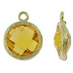 Varëse Rrëshirë, Alloy zink, Round Flat, ngjyrë ari praruar, matte, asnjë, , nikel çojë \x26amp; kadmium falas, 13x17x5.50mm, : 1.5mm, 50PC/Qese,  Qese