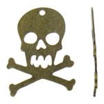 Pendants Skull Alloy zink, Kafkë, Ngjyra antike bronz i praruar, asnjë, asnjë, , nikel çojë \x26amp; kadmium falas, 49.50x67.50x1.50mm, : 4.5mm, 50PC/Qese,  Qese