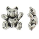 Beads Alloy zink Kafshëve, Bear, Ngjyra antike argjendi praruar, asnjë, asnjë, , nikel çojë \x26amp; kadmium falas, 12.50x14x6mm, : 1mm, 200PC/Qese,  Qese