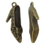 Shoes Zink Alloy Pendants, Këpucët, Ngjyra antike bronz i praruar, asnjë, asnjë, , nikel çojë \x26amp; kadmium falas, 10x26x4.50mm, : 1mm, 100PC/Qese,  Qese