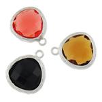 Varëse Rrëshirë, Alloy zink, with Rrëshirë, Lot, Ngjyra argjend praruar, matte, ngjyra të përziera, , nikel çojë \x26amp; kadmium falas, 13x15.50x4.50mm, : 1mm, 50PC/Qese,  Qese