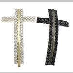 Beads Zink Alloy Tube, Tunxh, Kryq, i praruar, me diamant i rremë, ngjyra të përziera, , nikel çojë \x26amp; kadmium falas, 29x48x3mm, : 3mm, 30PC/Shumë,  Shumë