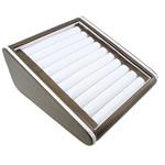 Unaza lëkure Display, lëkurë saten, with Karton, Drejtkëndësh, asnjë, asnjë, dy-ton, 210x240x10mm, 5PC/Qese,  Qese