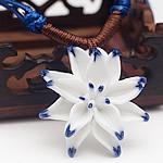Zinxhiri gjerdan triko, Porcelan, with Cord Wax, Lule, endura, asnjë, dy-ton, 40mm, : 15-26Inç, 5Fillesat/Shumë,  Shumë