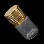 Nail bizhuteri Box, Xham, with Alumin, Shape Tjera, asnjë, i tejdukshëm, asnjë, 22x44mm, : 10.5mm, 100PC/Shumë,  Shumë