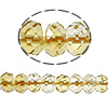 Beads kuarc bizhuteri, Beads citrine, Rondelle, asnjë, 4x6mm, : 1mm, :16Inç, 5Fillesat/Shumë,  Shumë