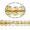 Natürlicher Citrin Perlen, Gelbquarz Perlen, Rondell, November Birthstone & facettierte, 5x7mm, Bohrung:ca. 1mm, Länge:ca. 16 ZollInch, 5SträngeStrang/Menge, ca. 83PCs/Strang, verkauft von Menge