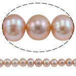 Round Beads kulturuar Pearl ujërave të ëmbla, Pearl kulturuar ujërave të ëmbla, natyror, rozë, AA, 12-15mm, : 0.8mm, : 16Inç,  16Inç,