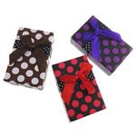 Karton Set bizhuteri Box, Drejtkëndësh, asnjë, ngjyra të përziera, 50x79x26mm, 72PC/Qese,  Qese