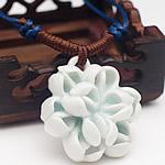 Zinxhiri gjerdan triko, Porcelan, Lule, endura, asnjë, e bardhë, 40mm, : 15-26Inç, 10Fillesat/Shumë,  Shumë