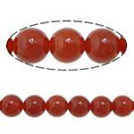 Beads Kuq Natyrore agat, Round, asnjë, asnjë, Një, 12mm, : 1.5mm, :15Inç, 10Fillesat/Shumë,  Shumë
