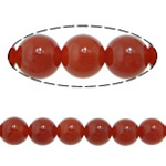 Beads Kuq Natyrore agat, Round, asnjë, asnjë, Një, 14mm, : 1.5mm, :15Inç, 10Fillesat/Shumë,  Shumë