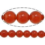 Beads Kuq Natyrore agat, Round, asnjë, asnjë, AA, 8mm, : 1.5mm, :15Inç, 10Fillesat/Shumë,  Shumë