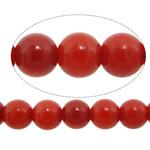 Beads Natyrore Coral, Coral Natyrore, Round, i lyer, i kuq, 2.50mm, : 0.8mm, :16.2Inç, 10Fillesat/Shumë,  Shumë