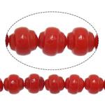 Beads Natyrore Coral, Coral Natyrore, Rondelle, i lyer, i kuq, 6x6mm, : 1mm, :15.5Inç, 10Fillesat/Shumë,  Shumë