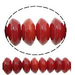 Beads Natyrore Coral, Coral Natyrore, Rondelle, i lyer, i kuq, 4x2mm, : 0.8mm, :15.5Inç, 10Fillesat/Shumë,  Shumë
