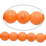 Beads Natyrore Coral, Coral Natyrore, Round, i lyer, portokall, 2.5-3mm, : 0.8mm, : 16.8Inç, 10Fillesat/Shumë,  Shumë