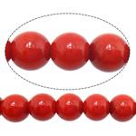 Beads Natyrore Coral, Round, asnjë, i kuq, 7mm, : 1.5mm, :16Inç, 10Fillesat/Shumë,  Shumë
