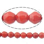 Beads Natyrore Coral, Coral Natyrore, Round, i kuq, 4mm, : 0.5mm, :16Inç, 10Fillesat/Shumë,  Shumë