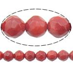 Beads Natyrore Coral, Coral Natyrore, Round, i kuq, 8mm, : 0.5mm, :16Inç, 10Fillesat/Shumë,  Shumë