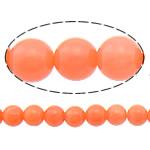 Beads Natyrore Coral, Coral Natyrore, Round, i lyer, portokall, 3mm, : 0.5mm, :16Inç, 10Fillesat/Shumë,  Shumë
