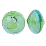 Beads lulëzim Lampwork, Rondelle, fryj, i uritur, asnjë, 17x11mm, : 2mm, 50PC/Qese,  Qese