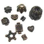 Zink Alloy Gjetjet bizhuteri, Alloy zink, Shape Tjera, ngjyrë bakri të praruar antike, asnjë, , nikel çojë \x26amp; kadmium falas, 4-12mm, : 1-2mm, 500PC/KG,  KG
