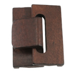 Fashion Dress Buckle, dyed wood, more colors for choice, 28x58x18, 28.5x58x7mm, Hole:Approx 2.5MM, Sold by Set