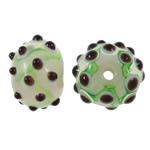 Beads Lampwork me gunga, Rondelle, punuar me dorë, asnjë, asnjë, 14x9.50x14mm, : 2mm, 100PC/Qese,  Qese
