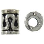 Beads Zink Alloy Tube, Alloy zink, Ngjyra antike argjendi praruar, asnjë, asnjë, , nikel çojë \x26amp; kadmium falas, 6.5x10mm, : 4mm, 765PC/KG,  KG