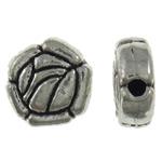 Beads Alloy zink Lule, Ngjyra antike argjendi praruar, asnjë, asnjë, , nikel çojë \x26amp; kadmium falas, 9.5x4mm, : 1mm, 235PC/KG,  KG