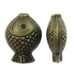 Beads Alloy zink Kafshëve, Peshk, Ngjyra antike bronz i praruar, asnjë, asnjë, , nikel çojë \x26amp; kadmium falas, 7.50x10.50x4.50mm, : 1mm, 1420PC/KG,  KG