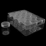 Nail bizhuteri Box, Plastik, Drejtkëndësh, asnjë, asnjë, e bardhë, 160x120x55mm, 5PC/I vendosur,  I vendosur