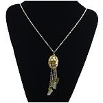 Necklaces Shell, Shell Verdha, Shape Tjera, ngjyrë platin praruar, asnjë, asnjë, 23x24mm, 90mm, :30Inç, 5Fillesat/Shumë,  Shumë
