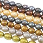 Rajs Beads ujërave të ëmbla kulturuar Pearl, Pearl kulturuar ujërave të ëmbla, Oriz, i lyer, ngjyra të përziera, 8-9mm, : 0.8mm, : 16Inç, 100Fillesat/Qese,  Qese