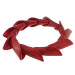 Fashion Bracelets Turquoise, Bruz sintetike, with Thread elastik, Shape Tjera, i lyer, asnjë, i kuq, 15x38mm, :8Inç, 20Fillesat/Shumë,  Shumë