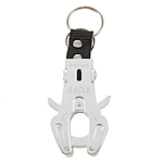 Aluminum Carabiner mbajtëse çelësash, Shape Tjera, pikturë, asnjë, e bardhë, 60x35mm, 40PC/Shumë,  Shumë