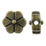 Beads Alloy zink Lule, Ngjyra antike bronz i praruar, asnjë, asnjë, , nikel çojë \x26amp; kadmium falas, 8x8x5mm, : 1mm, 1250PC/KG,  KG