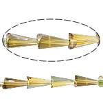 Cone Beads Crystal, Kristal, Kon, gjysmë-kromuar, asnjë, Lt Colorado topaz, 8x16mm, :15Inç, 10Fillesat/Shumë,  Shumë