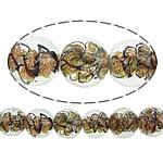 Inner Beads Lampwork Twist, Round, asnjë, kthesë brendshme, e bardhë, 12mm, : 1mm, : 10Inç, 5Fillesat/Shumë,  Shumë