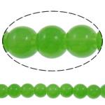Glass Beads Moda, Round, asnjë, ngjyra të forta, mollë jeshile, 8mm, : 2mm, : 31.5Inç, 10Fillesat/Qese,  Qese