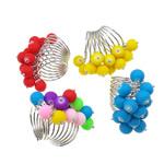 Ring Finger bizhuteri, Hekur, Shape Tjera, ngjyrë platin praruar, asnjë, ngjyra të përziera, , nikel çojë \x26amp; kadmium falas, 44x37x23mm, :7.5, 50PC/Kuti,  Kuti