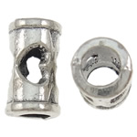 Beads Zink Alloy Tube, Alloy zink, Ngjyra antike argjendi praruar, i uritur, asnjë, , nikel çojë \x26amp; kadmium falas, 6x10mm, : 3.5mm, 1420PC/KG,  KG