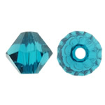 Swarovski Crystal Beads, Bicone, Indicolite, 6mm, : 1mm, 50PC/Qese,  Qese