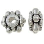 Beads Zink Alloy Spacer, Alloy zink, Shape Tjera, Ngjyra antike argjendi praruar, asnjë, asnjë, , nikel çojë \x26amp; kadmium falas, 8x9x5mm, : 2mm, 1250PC/KG,  KG