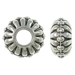Beads aliazh zink Flat, Alloy zink, Rondelle, Ngjyra antike argjendi praruar, asnjë, asnjë, , nikel çojë \x26amp; kadmium falas, 9.5x5mm, : 3.5mm, 1110PC/KG,  KG
