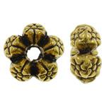 Beads Zink Alloy Spacer, Alloy zink, Lule, Ngjyra antike ari praruar, asnjë, asnjë, , nikel çojë \x26amp; kadmium falas, 8x4mm, : 2mm, 2000PC/KG,  KG