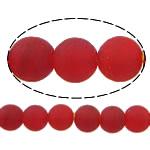 I mbuluar me brymë Lampwork, Round, asnjë, i kuq, 10mm, : 2mm, :11Inç, 10Fillesat/Shumë,  Shumë